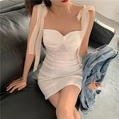 洋裝女夏季2020新款chic性感修身抹胸收腰显瘦气质包臀吊带裙子