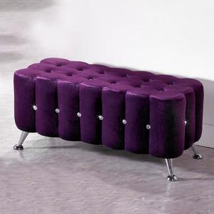 【YFS】凱莉毛毛蟲長方凳-87x39x40cm(四色可選)紫色