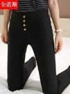 打底褲女褲夏薄款外穿春秋2020新款高腰顯瘦鉛筆百搭九分小腳黑色 小宅女