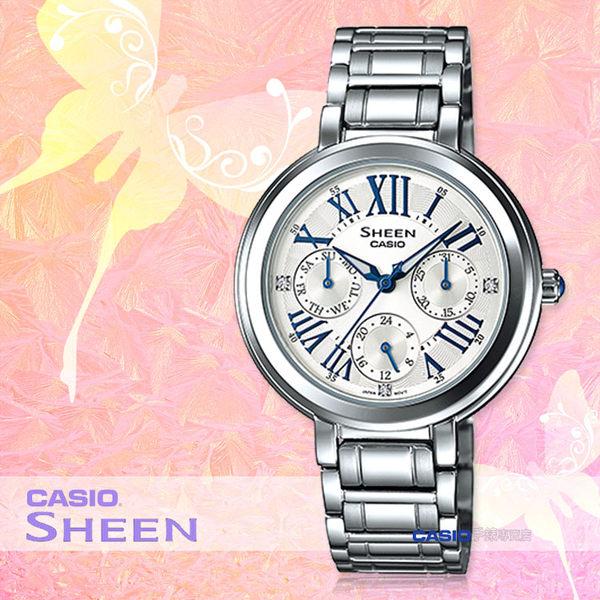 CASIO 卡西歐 手錶專賣店 SHEEN SHE-3034D-7A 女錶 不鏽鋼錶帶 防水 三眼