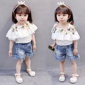 85折女寶寶衣服短袖 可愛嬰兒童裝 夏天公主套裝開學季