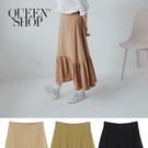 Queen Shop【03020641】簡約百搭素色棉麻長裙 三色售 S/M*現+預*