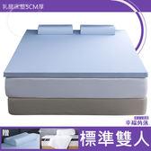 幸福角落 舒柔Nylon表布5cm厚乳膠床墊舒潔超值組-雙人5尺