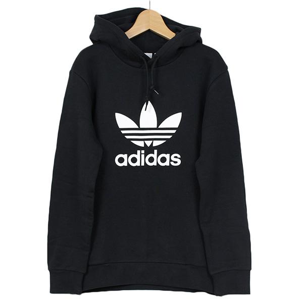 IMPACT Adidas Originals Hoodie 三葉草 帽T 黑 白 連帽 長袖 抽繩 CW1240