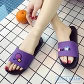 拖鞋 拖鞋女夏室內家居正韓可愛浴室涼拖鞋家用男軟底防滑時尚外穿厚底 HD