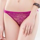 思薇爾-花妍秘戀系列M-XL蕾絲低腰三角內褲(亮桃紫)