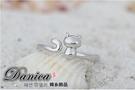 戒指 現貨 韓國時尚氣質 手作 貓星人 可愛貓咪 開口銀戒指 S5158 批發價 Danica 韓系飾品