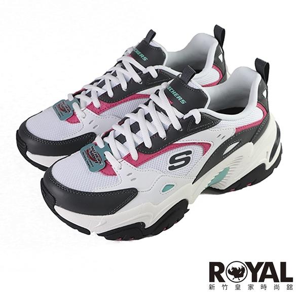 Skechers Stamina 白色 皮質 休閒運動鞋 女款 NO.J0682【新竹皇家 149510WGPK】