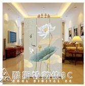 中式屏風隔斷時尚現代客廳移動簡約折疊臥室家用玄關折屏小戶型 酷斯特數位3c  YXS