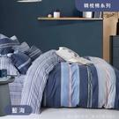 R.Q.POLO 100%精梳棉四件式薄被套床包組 藍海(加大)