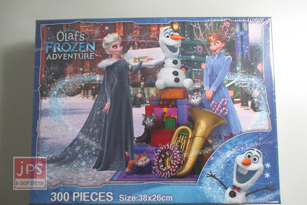 Frozen 冰雪奇緣 雪寶的佳節冒險 300片盒裝拼圖 拼圖