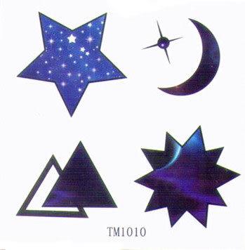 薇嘉雅 星星 月量 超炫圖案紋身貼紙 TM1010