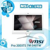 MSI 微星 Pro 20EXTS 7M-040TW 20型觸控液晶電腦 桌上型電腦(i3雙核)