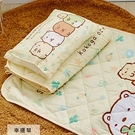 睡墊組 / 兒童標準【幸運草-黃】專用睡墊三件組 高密度磨毛布 戀家小舖台灣製ABF088