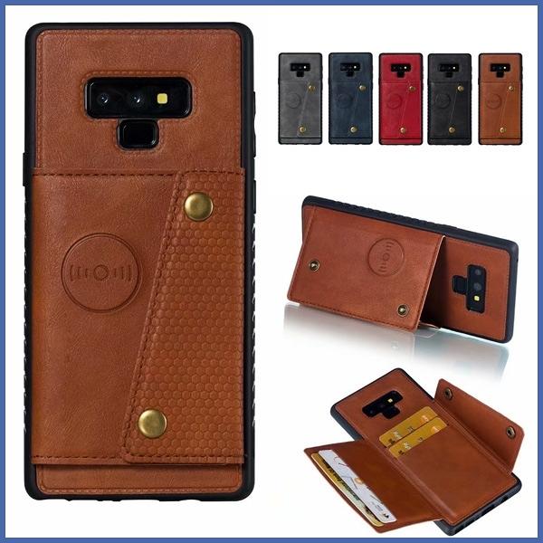 三星 Note9 雙向開插卡殼 手機殼 插卡 支架 磁吸 全包邊 防摔 保護殼