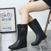 店長推薦▶韓國雨鞋女款中筒雨靴女式成人時尚水鞋防滑套鞋