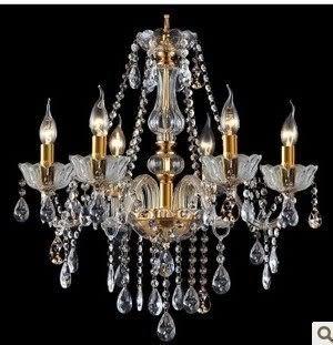 設計師美術精品館歐式 水晶燈 簡歐現代時尚金色 客廳燈 臥室燈餐廳燈 水晶燈 吊燈