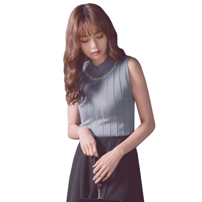 東京著衣【YOCO】華麗出場多色水鑽坑條針織背心-S.M.L(171743)