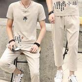 短袖T恤韓版休閒運動套裝