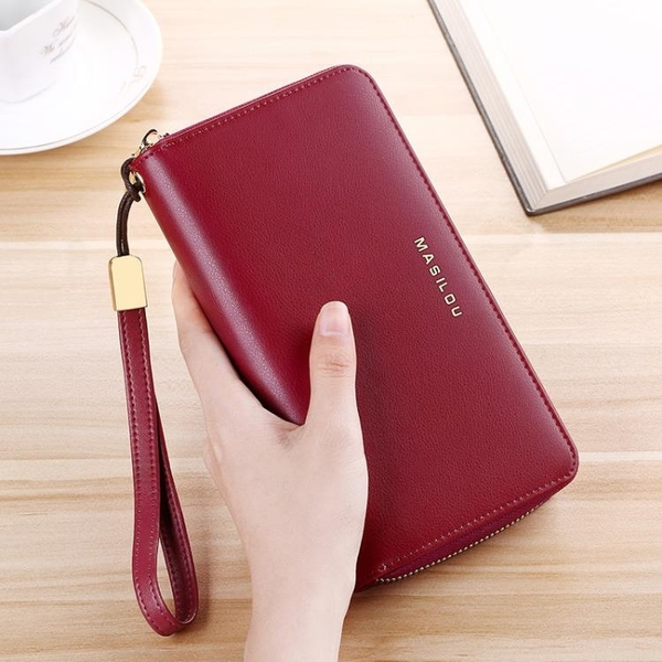 長夾 2021新款錢包女士長款防盜刷皮質大容量錢夾拉鏈多卡位卡包女手包 3C數位百貨