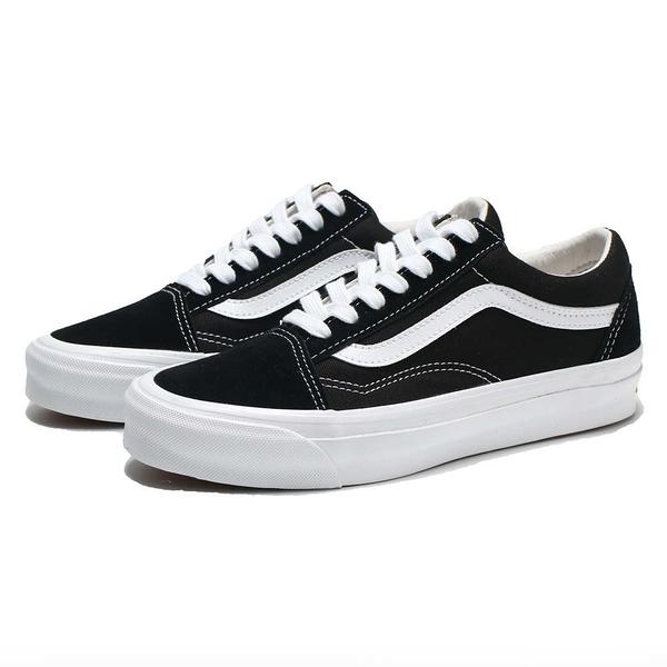 VANS 休閒鞋 板鞋 OG OLD SKOOL LX VAULT 黑 拼接 經典款 男女 (布魯克林) VN0A4P3XOIU