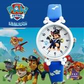 兒童錶 兒童皮帶手錶男孩女孩電子防水錶卡通汪汪隊小學生男女童石英手錶 6色【快速出貨】