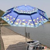 戶外遮陽傘魚竿漁具天成轉大號臺釣傘骨防雨igo 運動部落