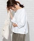 USA美國棉 船型領 7分袖T恤 日本品...