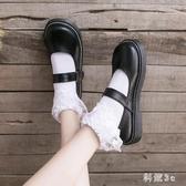 軟妹小皮鞋女日系英倫復古學院風chic黑色瑪麗珍jk單鞋大頭娃娃鞋 FX4084 【科炫3c】