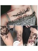 紋身貼-花臂紋身貼防水男女持久潮仿真刺青性感小清新可愛網紅花臂10張-奇幻樂園