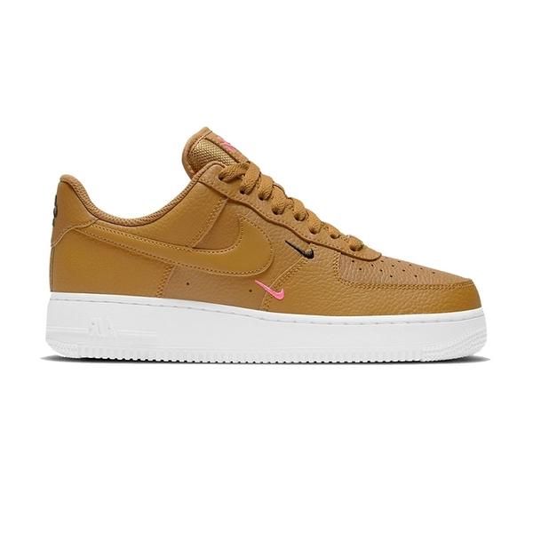 Air Force 1 07 女鞋 棕色 經典 AF1 皮革 簡約 小勾勾 休閒鞋 CT1989-700