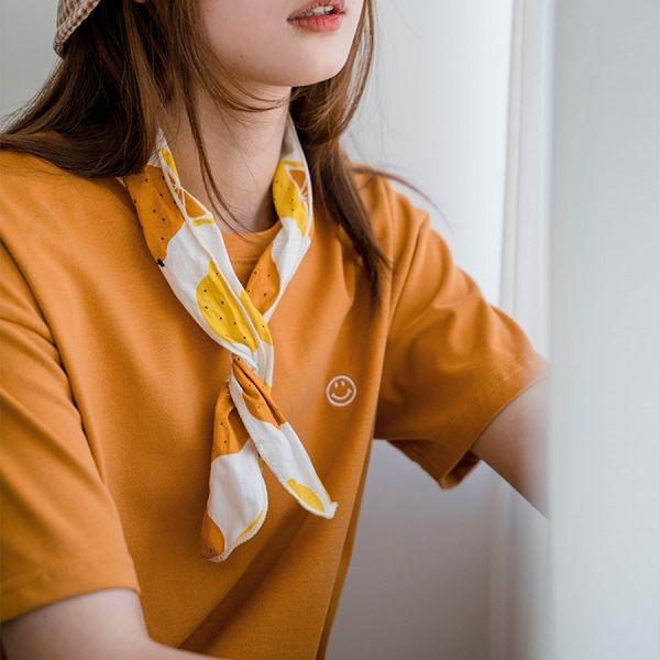 現貨-MIUSTAR 每天都有好心情!小笑臉刺繡厚棉質上衣(共6色)【NJ0035】