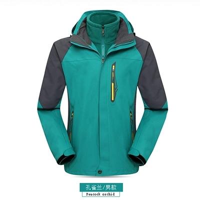 衝鋒衣 冬季沖鋒衣男女潮牌三合一可拆卸加絨加厚兩件套防風防水登山外套