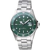Olym Pianus 奧柏 陶瓷錶圈日期手錶-綠/39mm 899831.2MS