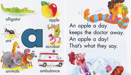 【麥克書店】★教學最好用!!★Rhyming Around the Alphabet / 書+CD《字母大書組合》/限宅配/