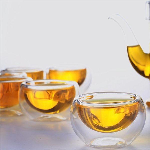 品茗杯玻璃杯子功夫茶杯玻璃茶具帶把花茶杯咖啡杯小茶杯茶碗加厚【端午節好康89折】