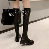 長筒靴女過膝長靴2020秋冬新款加絨平底女皮靴瘦瘦騎士高筒馬靴子 蘿莉新品