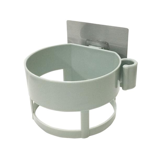 〈限今日-超取288免運〉 多功能吹風機架 收納架 置物架 浴室 壁掛架 免打孔 壁貼【F0326】