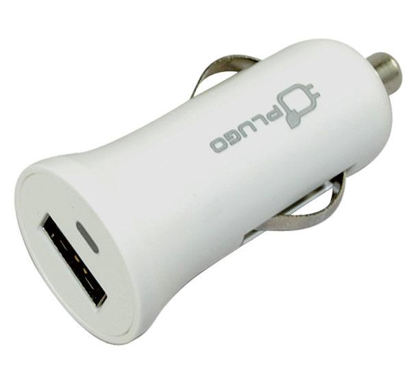 【PLUGO 普樂購】車用USB充電器(2.1A)-白色USB55WH