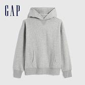 Gap男裝 簡約風格純色連帽休閒上衣 627533-淺灰色