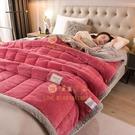 三層加厚毛毯珊瑚絨空調毯夏季單人辦公室午睡春秋毯子法萊絨毯【慢客生活】