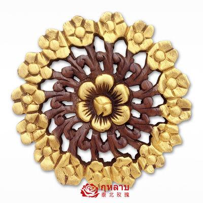 泰國柚木雕花板 實木花朵鏤空板020