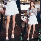 LIYO理優純色腰鬆緊百褶短裙L713003