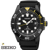SEIKO PROSPEX 全黑太陽能水鬼200米膠帶潛水錶 43mm V157-0BT0SD SNE441J1 公司貨|名人鐘錶