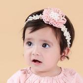 髮帶韓國款毛線花寶寶嬰兒髮帶頭帶送禮拍攝彌月婚禮果漾妮妮~P3974 ~