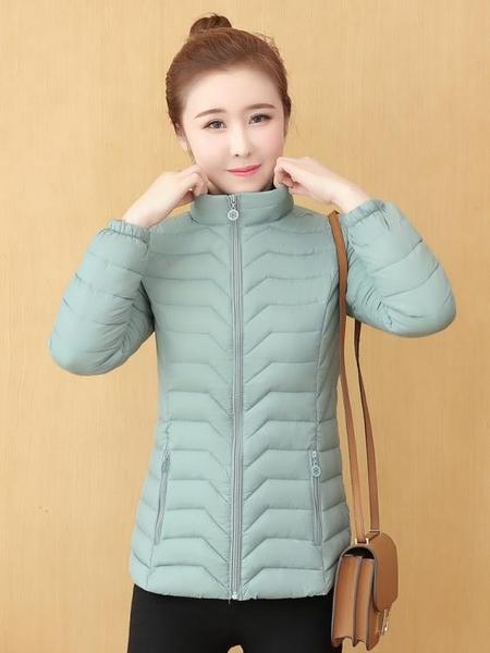 羽絨棉服 冬季棉衣棉服女冬2021年新款輕薄小棉襖減齡短款羽絨棉服女士外套 歐歐