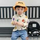 男童襯衫圓點寶寶襯衣嬰兒長袖上衣兒童上衣【淘夢屋】