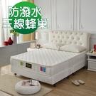 床墊 獨立筒 睡芝寶-正三線-3M防潑水蜂巢式-獨立筒床墊厚24cm-雙人5尺-破盤價5399