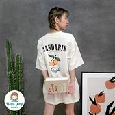 【正韓直送】手繪柑橘英字短袖上衣 4色 橘子可愛 韓國T恤 韓國女裝 哈囉喬伊 G189