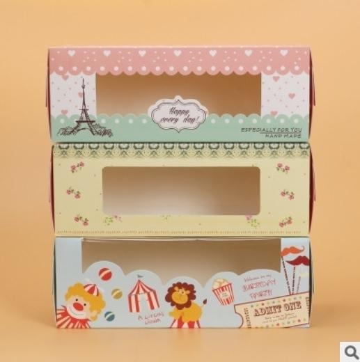 抽拉式生乳捲盒 玫瑰/鐵塔款毛巾捲盒 瑞士捲盒蛋糕盒長條盒【C108】糖果盒西點盒外帶盒